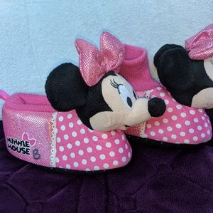 Minnie Mouse Girls Toddler Slippers M 7/8